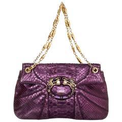 Gucci Tom Ford Purple Python Jeweled Dragon Bag