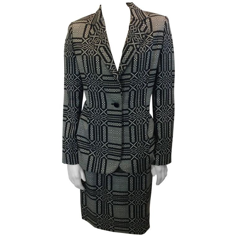 Bill Blass Printed Skirt Suit 1
