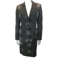 Bill Blass Printed Skirt Suit