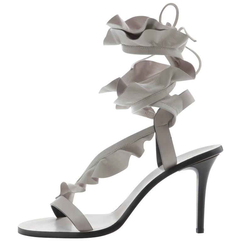 Isabel Marant New Sold Out Runway Nude Leather Wraparound Sandals Heels in Box 1