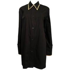 Celine Black Oversize Shirt Sz38 US 6, Fall 2016