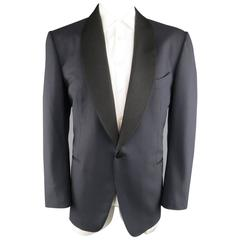 Men's TOM FORD 48 Regular Navy & Black Wool Shawl Collar Tuxedo Dinner Jacket