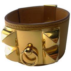 Hermès Collier De Chien Bracelet Gold plated Hadware  / Brand New