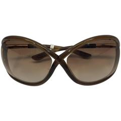 Tom Ford Brown Oversized Sunglasses