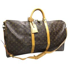 Louis Vuitton Monogram Keepall 60 Bandouliere Travel Bag