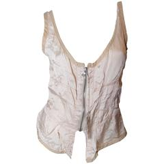 Prada Pale Pink Zip Up Bustier