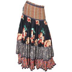 Koos Van Den Akker Floral Skirt