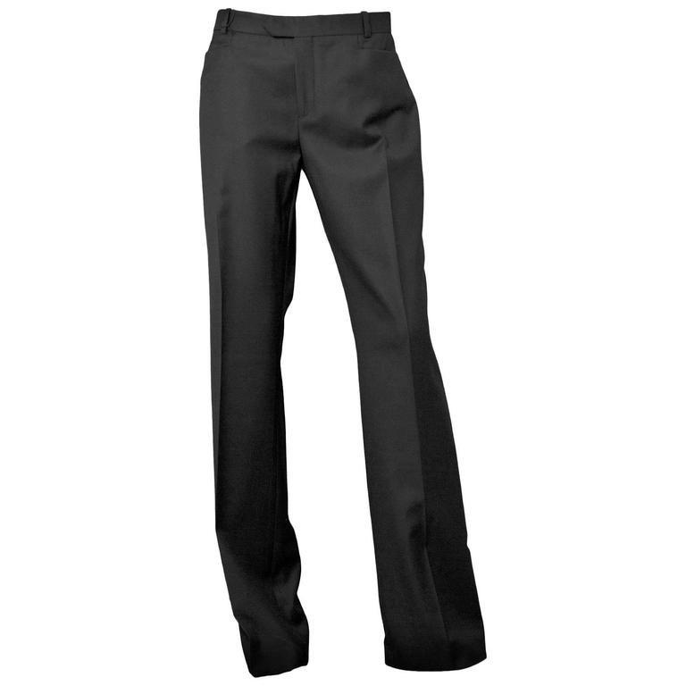 Joseph Black Wool Pants Sz IT42 NWT 1