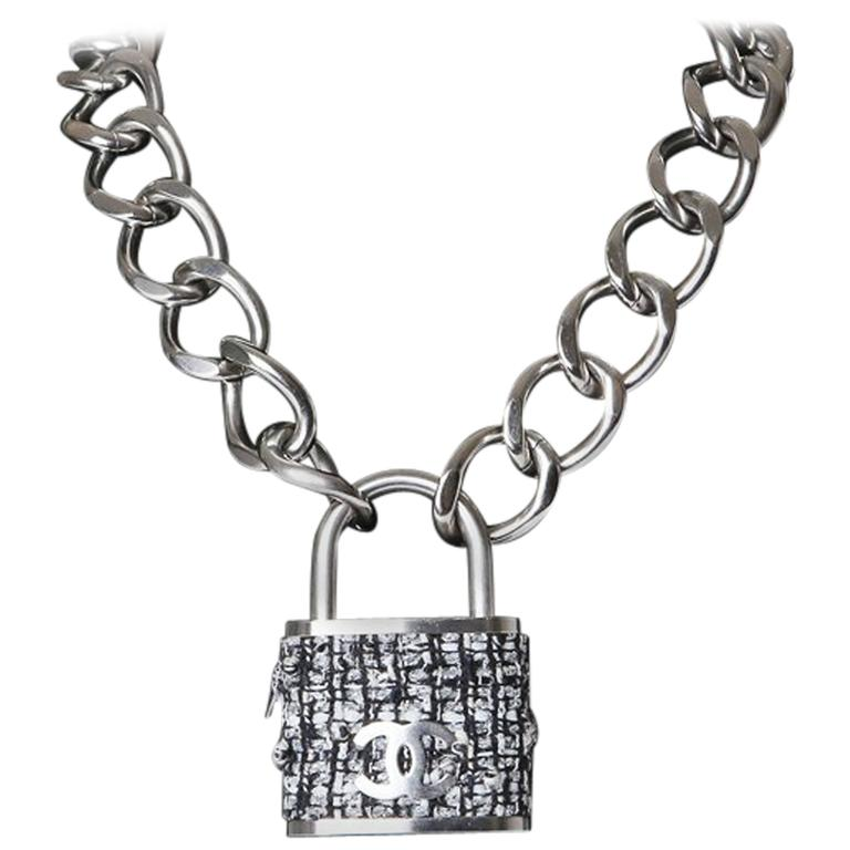 Chanel Boucle Padlock Necklace At 1stdibs