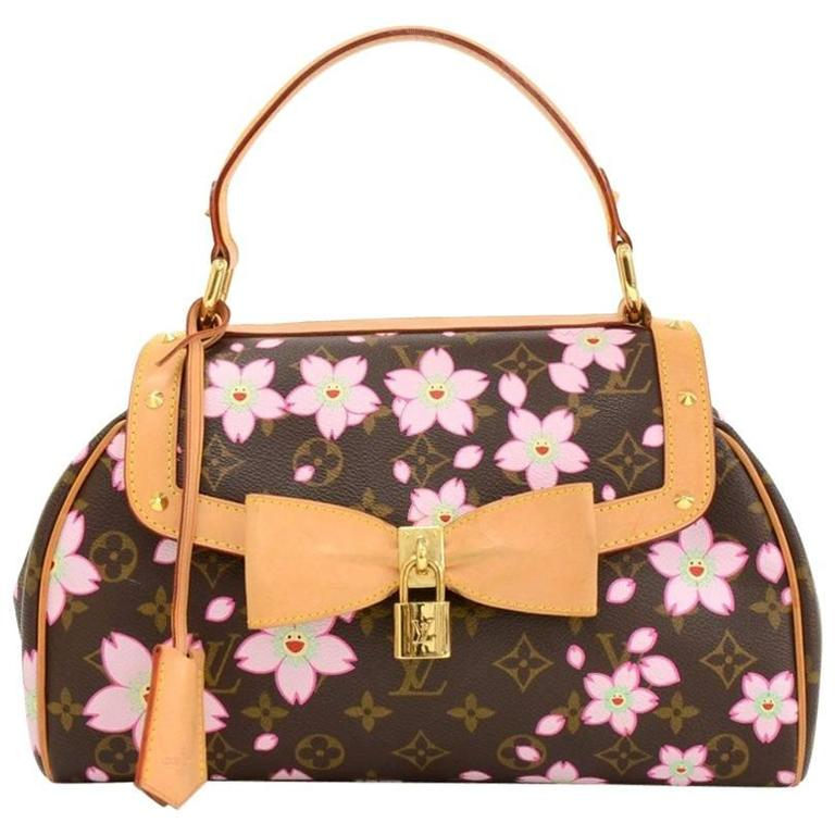 Louis Vuitton Sac Retro PM Cherry Blossom Monogram Canvas Murakami Hand Bag  1