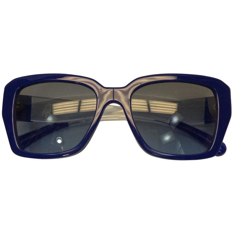 Chanel Blue Logo Sunglasses 1