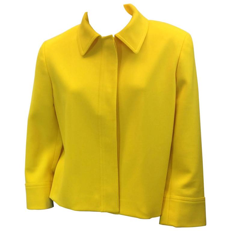 Ralph Lauren Cropped Bright Yellow Jacket 1