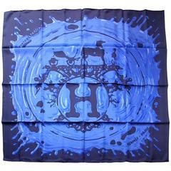 Hermès Scarf Silk Twill Peinture Fraiche 90 cm / Brand New