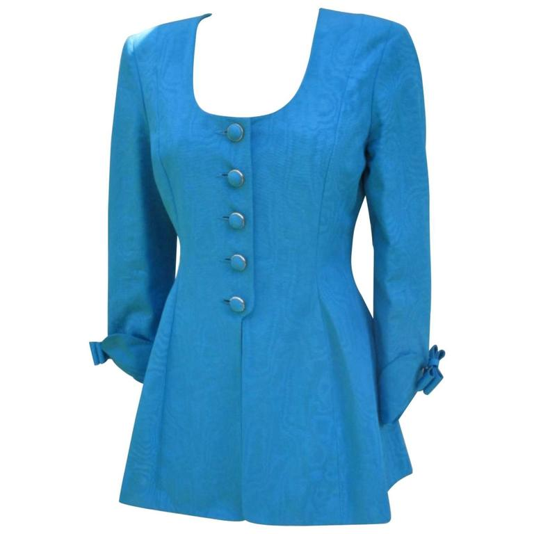 nina ricci paris turquoise jacket with skirt