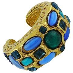 Kalinger Vintage Jewelled Cuff Bracelet
