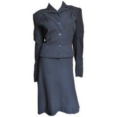 John Galliano Vintage Elaborate Runway Skirt Suit