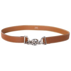 Hermes Tan Chaine d'Ancre & Toggle Belt sz EU75