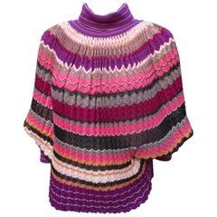 Missoni Wool/Silk Sleeved Cape