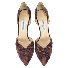 JIMMY CHOO London Stiletto Satin Pumps Size 40