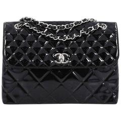Chanel In The Business Flap Bag Quilted Patent Vinyl Maxi