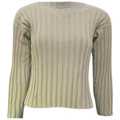 1990s Zoran Ribbed Cotton Top