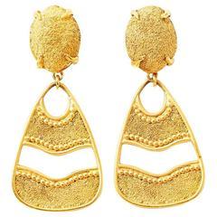 Yves Saint Laurent Gold Dangling Earrings
