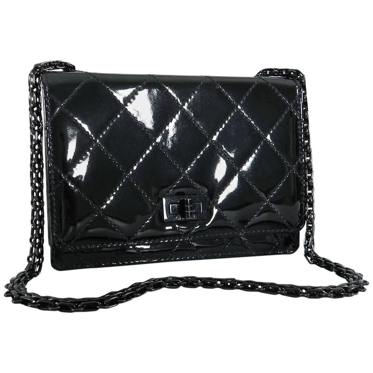 Chanel Limited Edition So Black Patent Quilt Mini Bag with Mademoiselle Chain 1