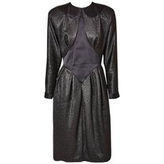 Geoffrey Beene Lurex and Satin Dress