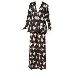 "Biba Wool ""Cat"" Suit, Trouser and Sweater Set, circa 1960s/1970s"