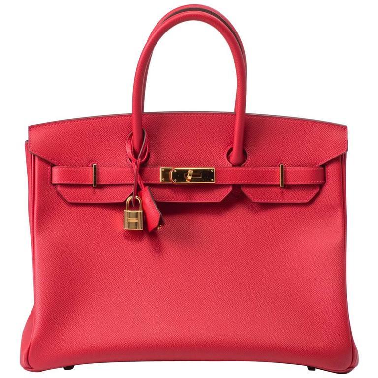 9e40dbeeeb8 Hermes Birkin 35 Epsom Rouge Casaque Bag