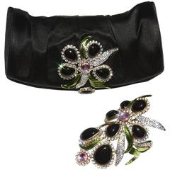 New Tom Ford for Yves Saint Laurent S/S 2004 Crystal Wide Bracelet and Clutch