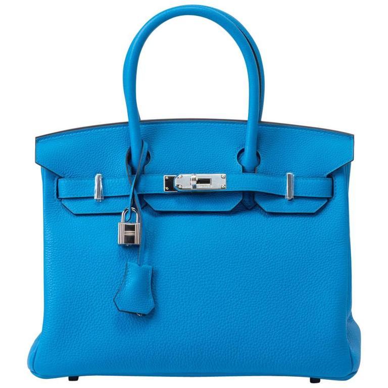 New in Box RARE Hermes Birkin 30 Verso Zanzibar/Malachit Bag