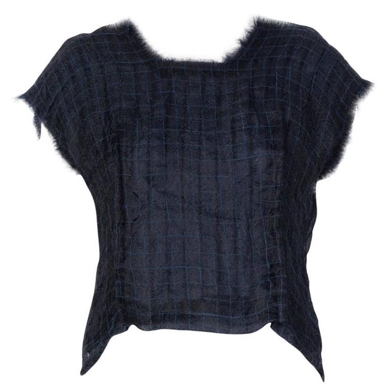 COMME DES GARÇONS Sleeveless Silk Wool Blouse