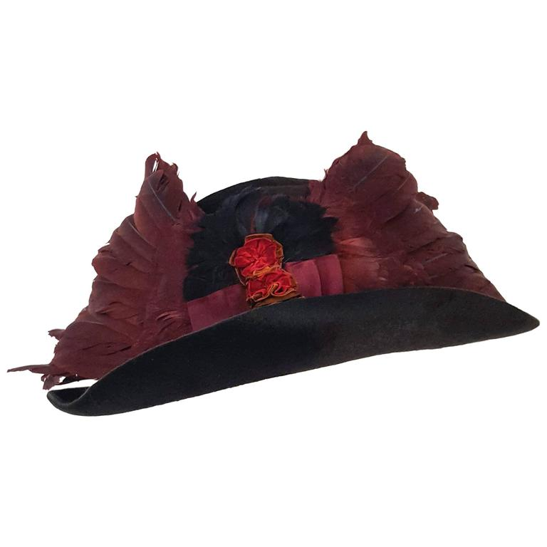 Edwardian Winged Picture Hat