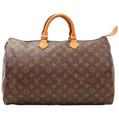 Vintage Louis Vuitton Speedy 40 Monogram Canvas Hand Bag