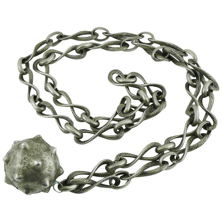 Lanvin Vintage Medieval Revival Sautoir Necklace 1