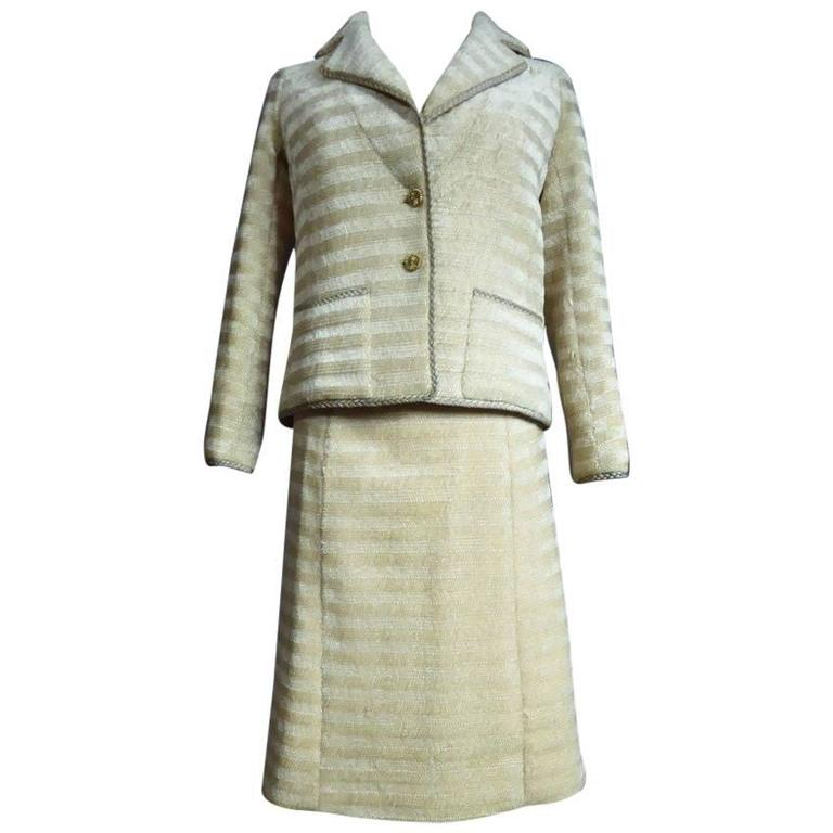 Chanel Haute Couture Suit, Circa 1970 For Sale