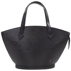 Vintage Louis Vuitton Saint Jacques PM Black Epi Leather Hand Bag