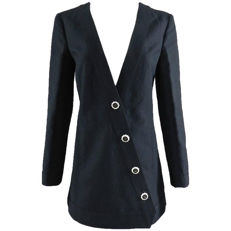 Chanel 14C Black Jacket with White Porcelain CC Buttons 1