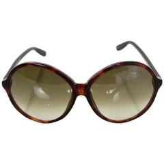 Tom Ford Tortoise Rhonda Round Frame Sunglasses with Case