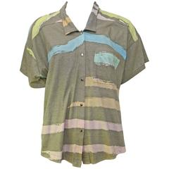 1980s Michaele Vollbracht Pastels Top