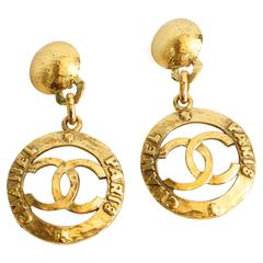 Iconic Chanel Hoop Earrings circa 1980s