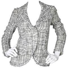 Chanel 2006 Black & White Tweed Jacket sz FR34