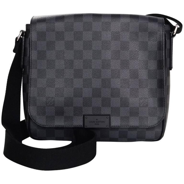Louis Vuitton Graphite Damier District Pm Crossbody Bag For Sale At