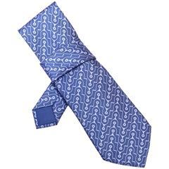 Hermes Purple & Grey Star Print Silk Tie