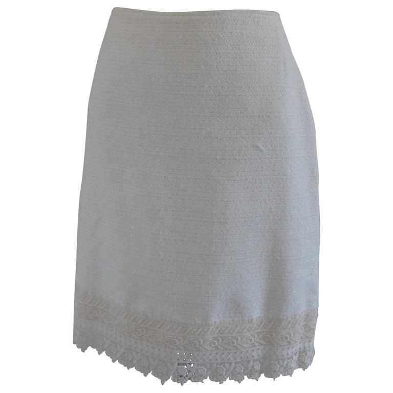 Genny by Gianni versace white cotton Skirt