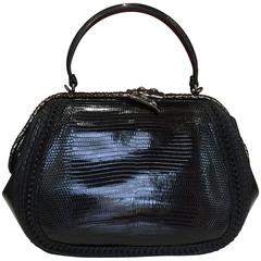 Bulgari Diva Serpenti Lizard skin Medium Bag w/ Scale Plisse Hypnotic Top Handle