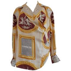 Christian Dior rare vintage silk shirt blouse