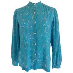 Emilio Pucci blu shirt