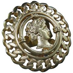 vintage bronze neoclassical ring by Patrizia Daliana